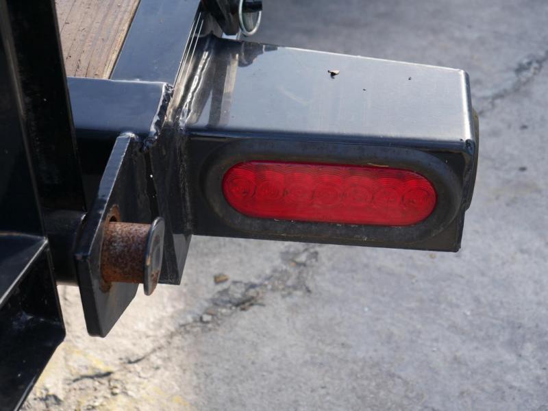 *107926* 7x22 Equipment Trailer w/Stand Up Kicker Ramps |Tandem Axle Trailers 7 x 22