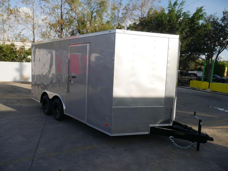 *108313* 8.5x16 Enclosed Cargo Trailer |LRT Tandem Axle Trailers 8.5 x 16