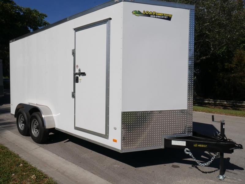 *E9C* 7x16 Enclosed Cargo Trailer Tandem Axle Hauler 7 x 16 | EV7-16T3-R