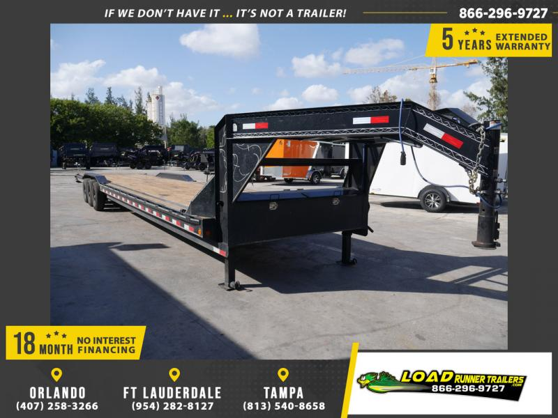 *108420* 8.5x40 Gooseneck 2 Car Trailer |Triple Axle Trailers 8.5 x 40