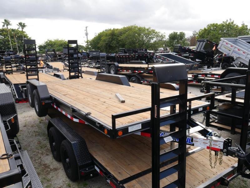 *EQ14B* 7x20 7 TON Equipment & Car Hauler Trailer |LR Trailers 7 x 20 | EQ83-20T5-2B-KR