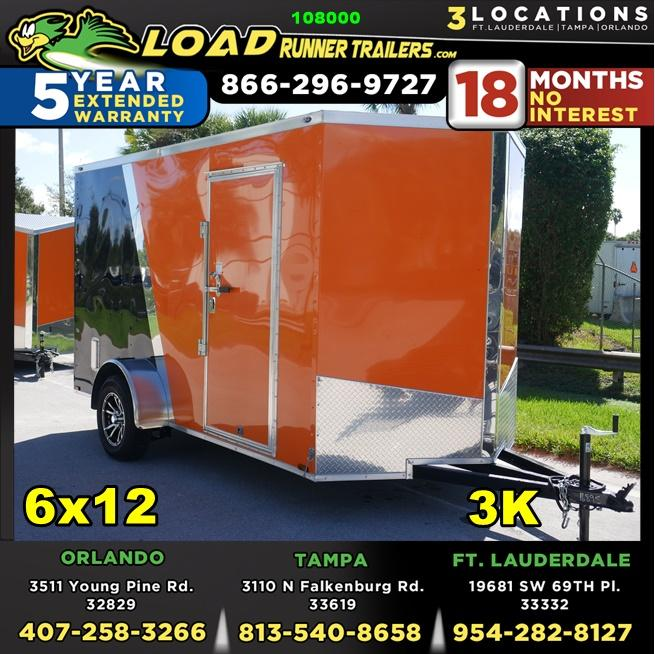 *108000* 6x12 Enclosed Cargo Trailer W/Spider Mags |LRT Haulers & Trailers 6 x 12