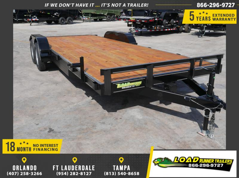 *108652* 7x20 Car Trailer |LRT Tandem Axle Trailers 7 x 20