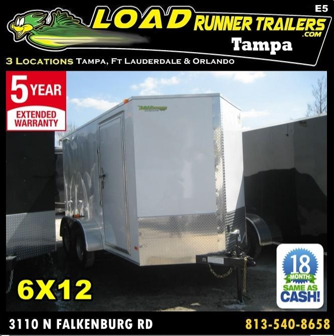 *E5* 6x12 Enclosed Trailer Cargo Tandem Axle Box 6 x 12 | EV6-12T3-R