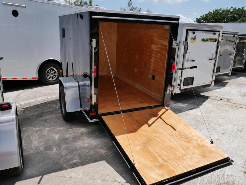 *107748* 5x8 Black Enclosed Cargo Trailer |LRT Haulers & Trailers 5 x 8