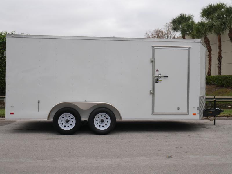 *E9H* 7x16 Enclosed Cargo Trailer | 5 YEAR WARRANTY | V Nose 7 x 16 | EV7-16T3-R