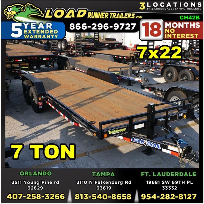 *CH42B* 7x22 7 Ton Car Hauler Trailer  LR Haulers & Trailers 7 x 22   CH83-22T7