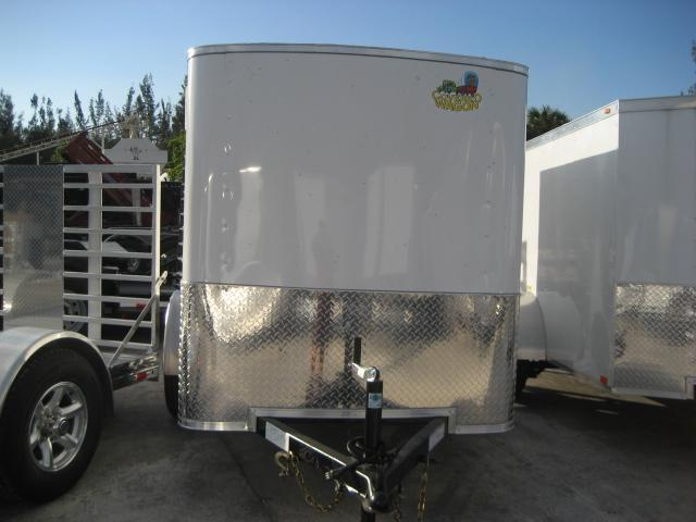 *E1D* 5x8 Enclosed Cargo Trailer Rear Door | Rounded Front 5 x 8 | EF5-8S3-D