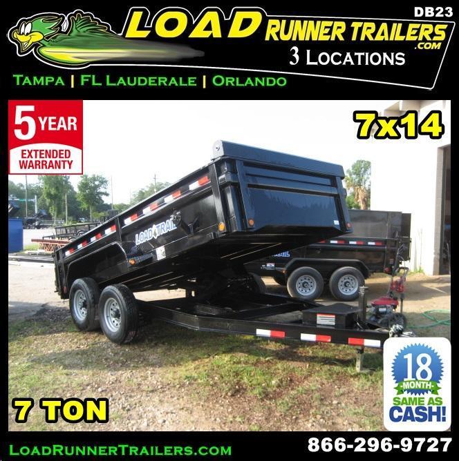 *DB23* 7x14 Dump Trailer   Trailers 7 TON Low Profile Load Trail 7 x 14   D83-14T7-LP/24S