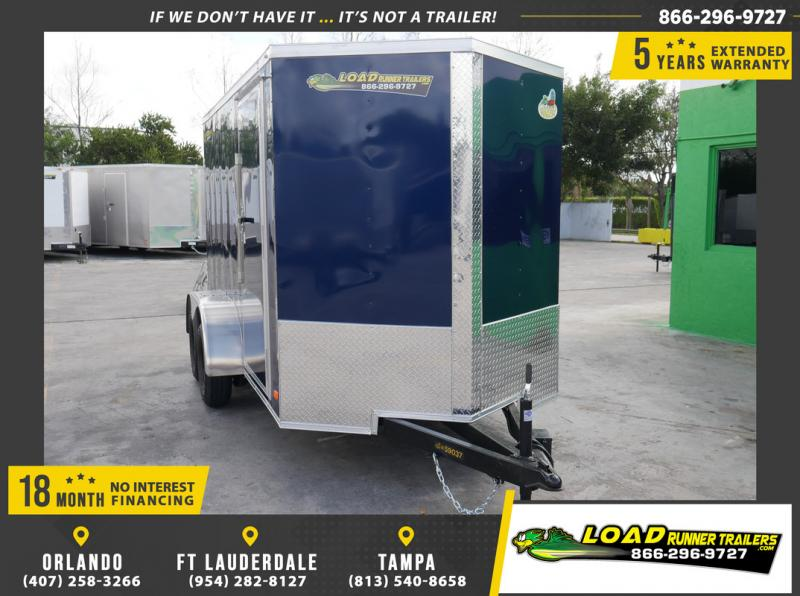 *108898* 6x12 Enclosed Cargo Trailer |LRT Tandem Axle Trailers 6 x 12