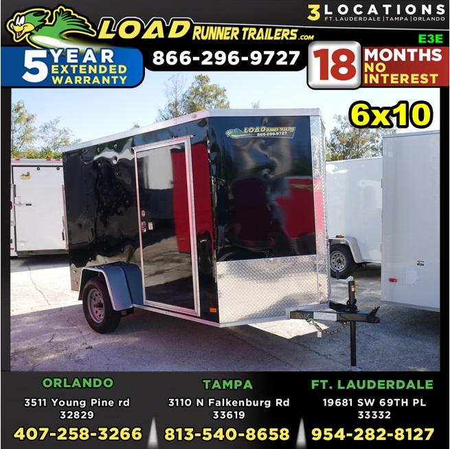 *E3E* 6x10 Enclosed Trailer   Cargo Trailers W/ Ramp 6 x 10   EV6-10S3-R