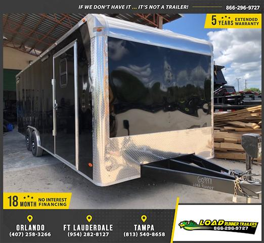 *E12-Race* 8.5x24 RACE CAR ENCLOSED CARGO TRAILER |LR TRAILERS 8.5 x 24 | EF8.5-24T5-RACE