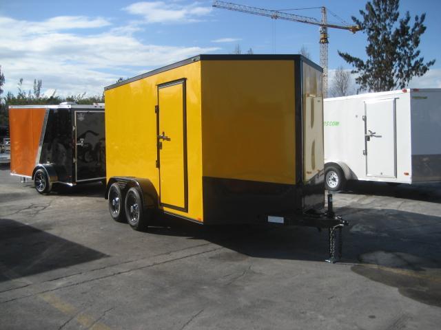 *E14* 7x12 Enclosed Cargo Trailer Trailers Tandem Axle 7 x 12 | EV7-12T3-R