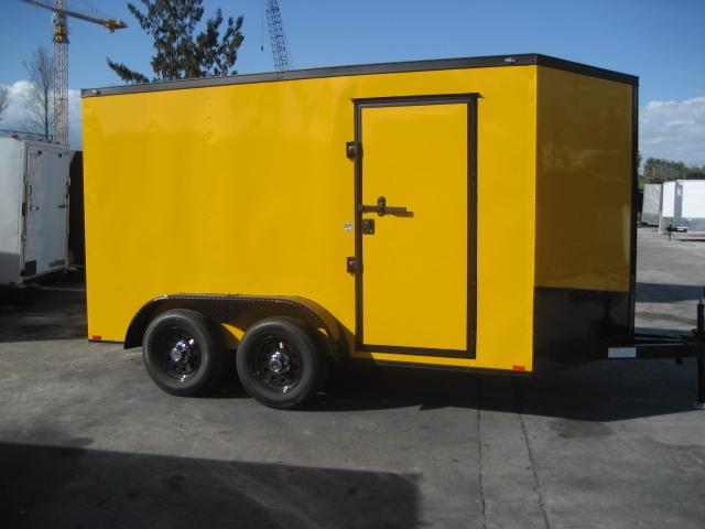*E14* 7x12 Enclosed Cargo Trailer Trailers Tandem Axle 7 x 12 | EV7-12T3-R