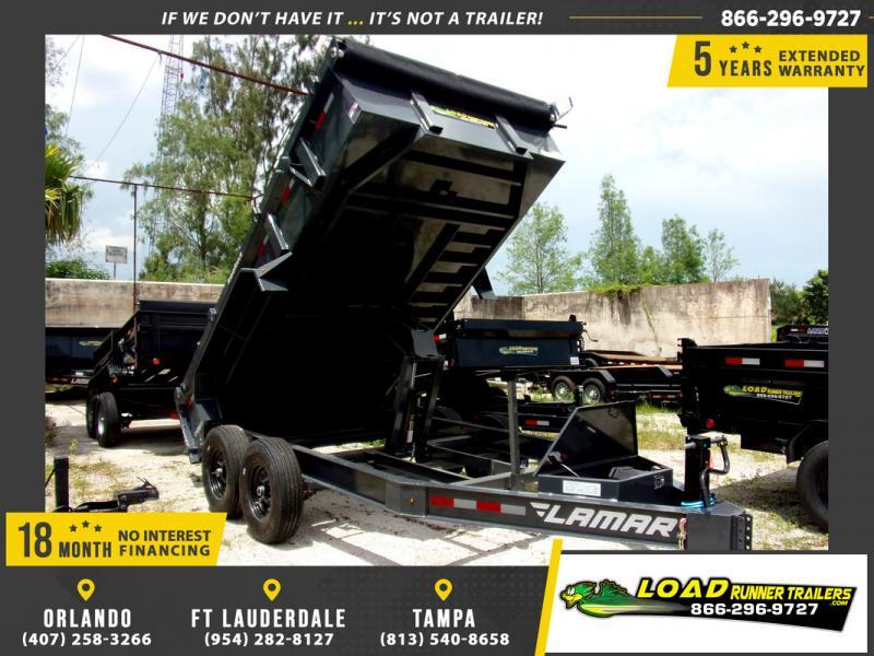 *109304* 7x14 Dump Trailer |LRT Tandem Axle Trailers 7 x 14