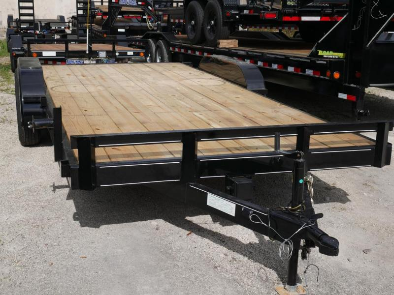 *108023* 7x18 Car Hauler Trailer |LRT Tandem Axle Trailers 7 x 18