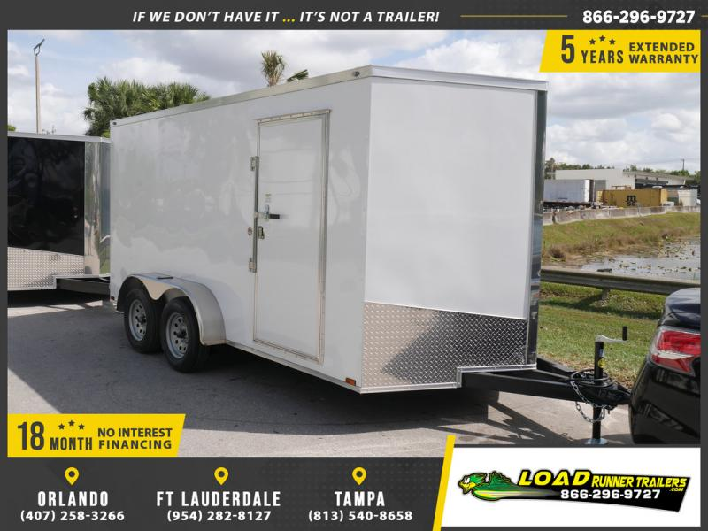 *E8I* 7x14 18 MONTHS NO INTEREST | Enclosed Cargo Trailer 7 x 14 | EV7-14T3-R