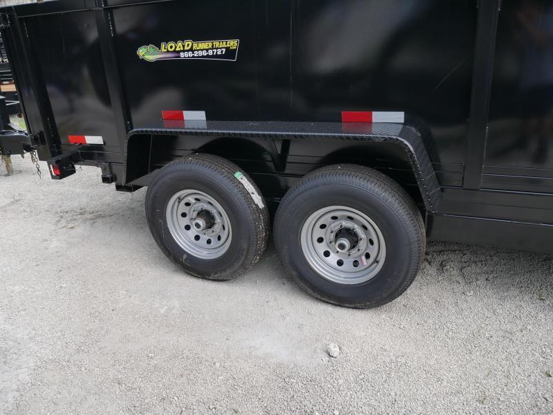 *DB58* 7x16 7 TON W/3' Walls Dump Trailer Bumper Pull Trailers 7 x 16 | D82-16T7-36S