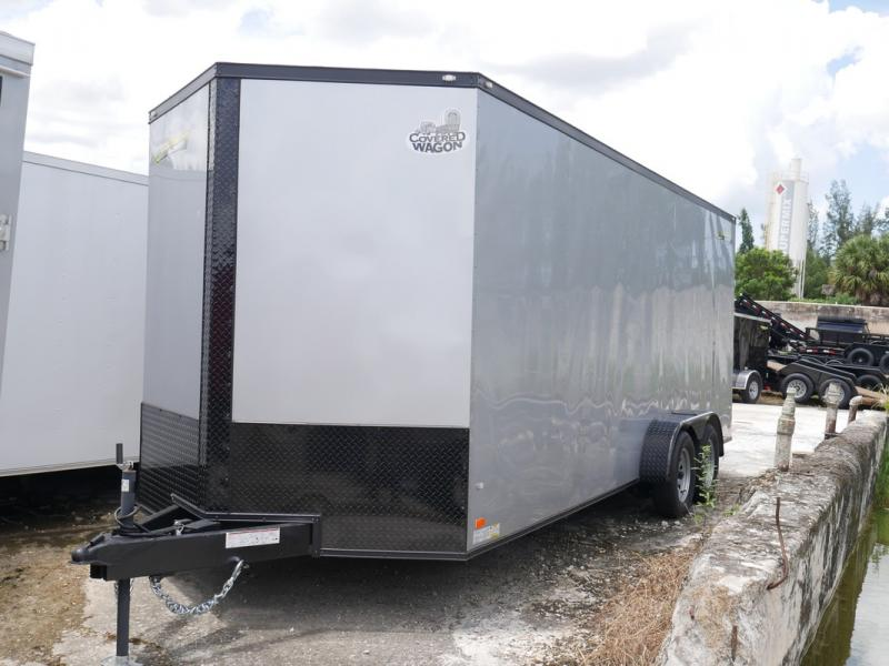 *105956* 7x20 Enclosed Cargo Trailer Tandem Axle Trailers 7 x 20