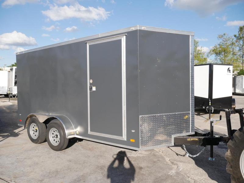 *108083* 7x14 Enclosed Cargo Trailer with TEXTURED SKIN | SCRATCH RESISTANT/HIDING 7 x 14 | EV7-14T3-R