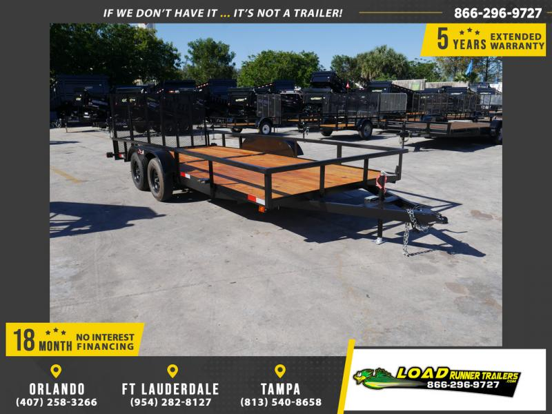 *108403* 7x18 Utility|Lawn|ATV|Multipurpose Trailer |LRT Tandem Axle Trailers 7 x 18