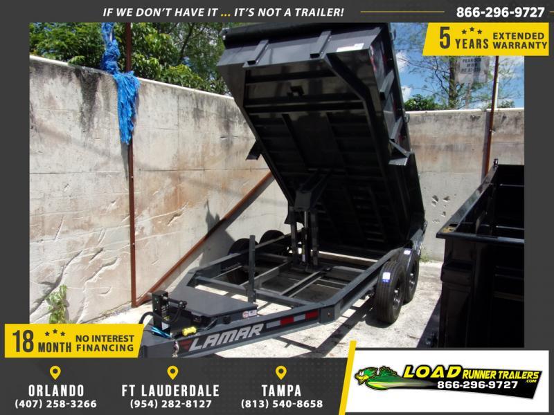 *109305* 7x14 Dump Trailer |LRT Tandem Axle Trailers 7 x 14