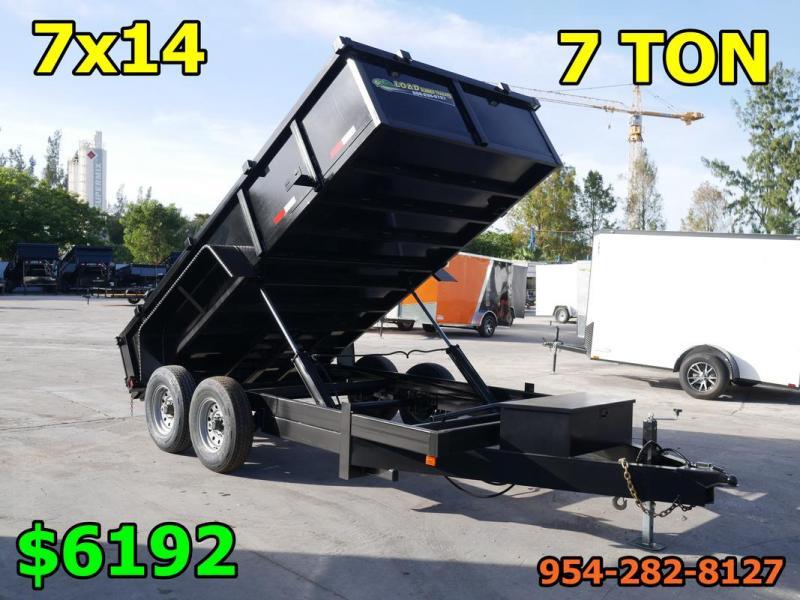 *108302* 7x14 7 TON Dump Trailer |LRT Tandem Axle Trailers 7 x 14
