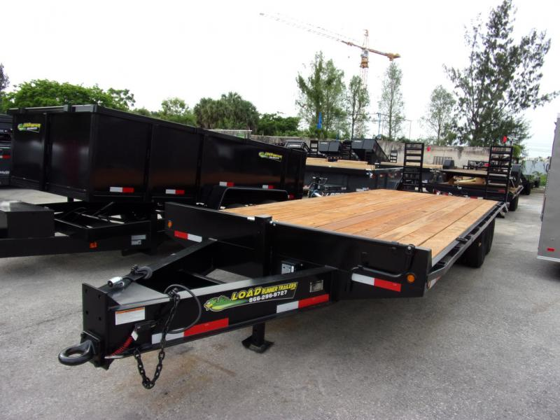 *108386* 8.5x25 10 TON Flatbed Deck Over Pintle Trailer 8.5 x 25