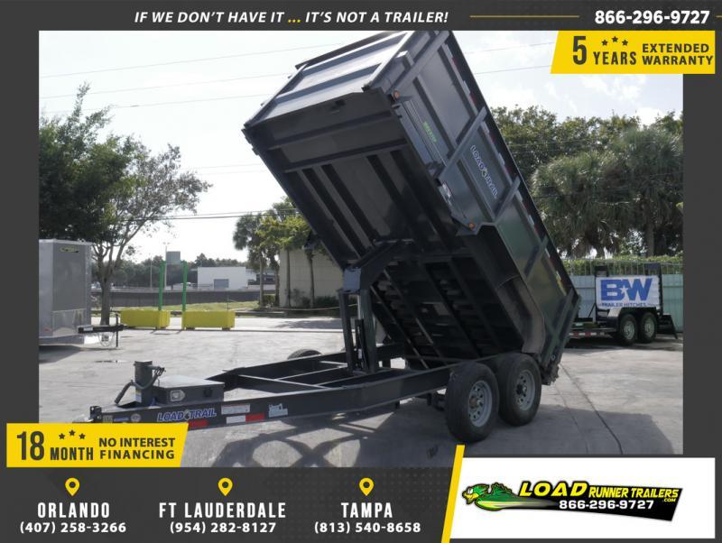 *108553* 7x14 Dump Trailer |LRT Tandem Axle Trailers 7 x 14