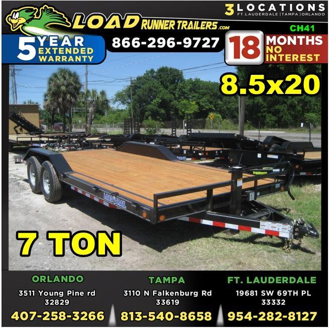 *CH41* 8.5x20 7 TON Car Trailer/Haulers  Car Haulers & Trailers 8.5 x 20   CH102-20T7-DOF