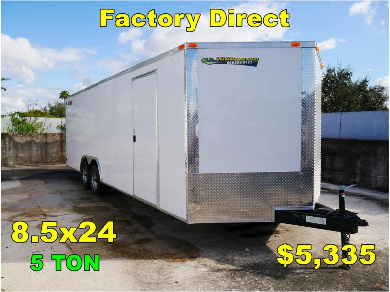 *FD43* 8.5x24 Enclosed Cargo Trailer |Tandem Axle Car Trailers 8.5 x 24