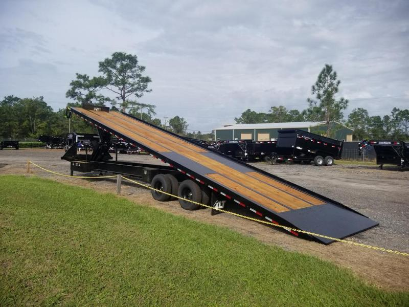*107984* 8.5x40 12 TON POWER TILT GOOSENECK FLATBED TRAILER 8.5 x 40