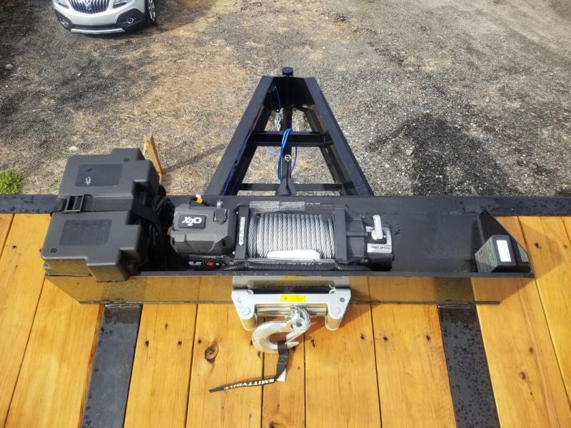 *107984*  12 TON POWER TILT GOOSENECK FLATBED TRAILER  | TFG102-40T12-PT/HYD-BRAKE