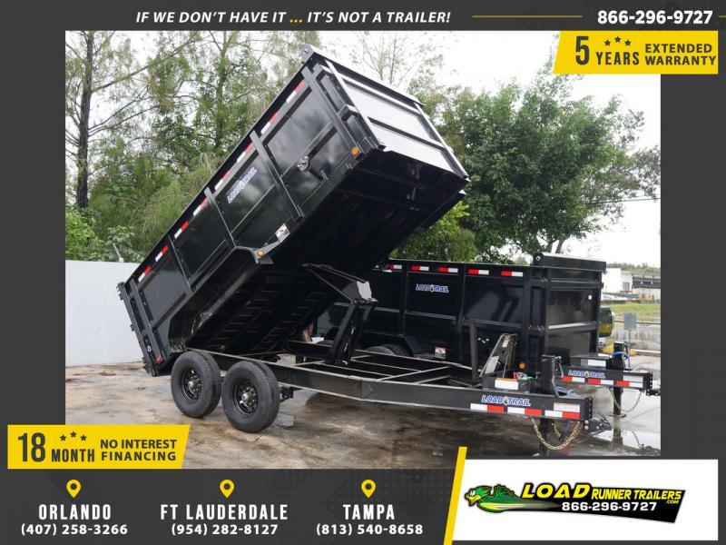 "*108030* 7x14 Dump Trailer w/48"" Sides |LRT Tandem Axle Trailers | 4' 7 x 14"