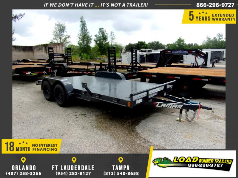 *109276* 7x16 Steel Deck Car Hauler Trailer | LRT Trailers 7 x 16
