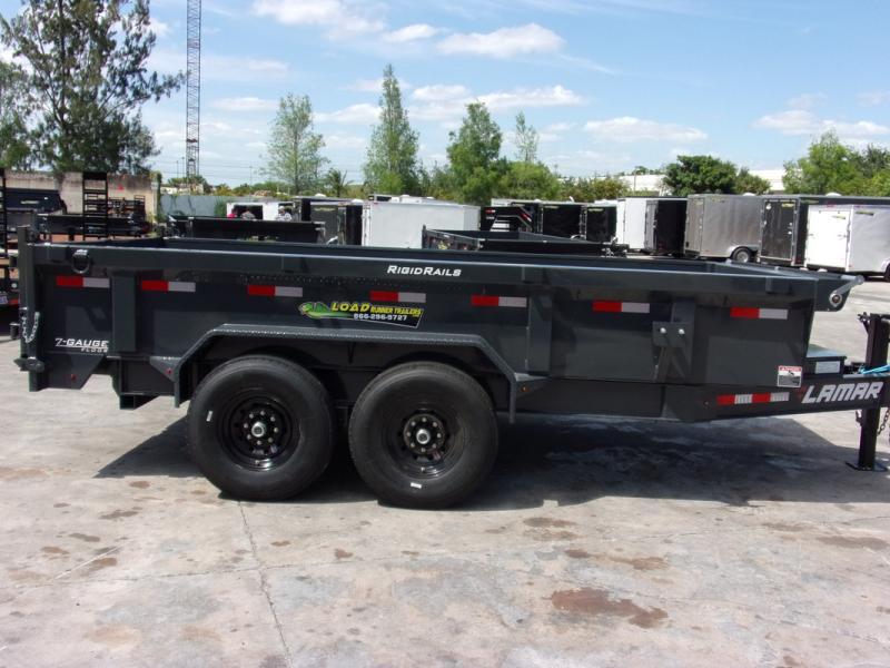 *109280* 7x14 Dump Trailer |LRT Tandem Axle Trailers 7 x 14