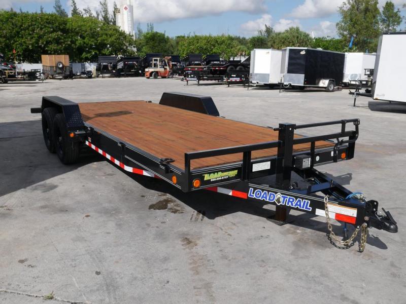 *107081* 7x20 Load Trail Car Trailer |LRT Tandem Axle Trailers 7 x 20