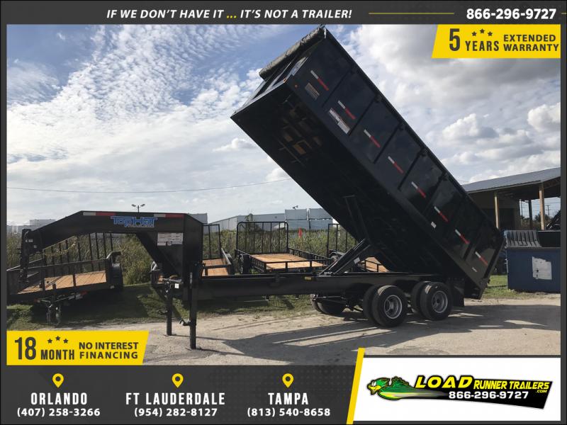 *DG40* 8x20 10 TON Trailers |Gooseneck Dump Trailer 8 x 20 | DG96-20T10-48S