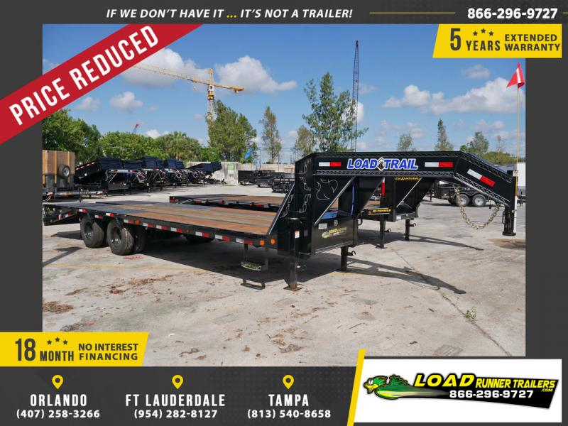 *105948* 8.5x25 Gooseneck Flatbed Deck Over Trailer |LRT Haulers & Trailers 8.5 x 25