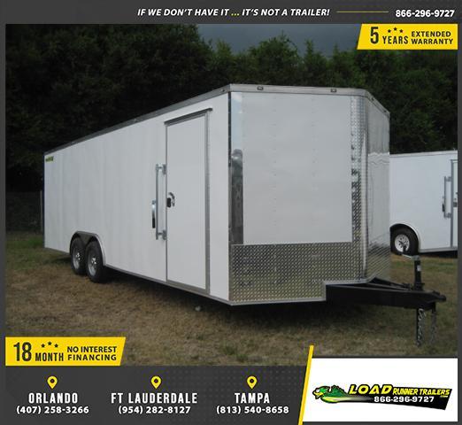 *E12B* 8.5x24 Enclosed Hauler Cargo Trailer Car Haulers 8.5 x 24   EV8.5-24T5-R