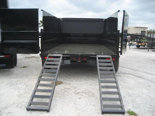 *DB20* 7x14 7k Dump Trailer W/4Ft Sides Load Trail Trailers 7 x 14 | D83-14T7-24S+24