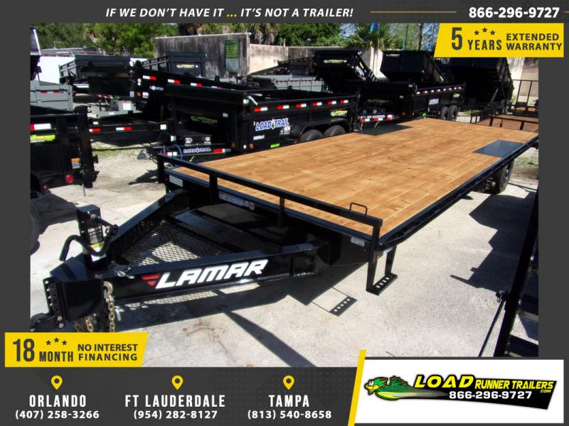 *109336* 8.5x24 Flatbed Deck Over Trailer |LRT Tandem Axle Trailers 8.5 x 24