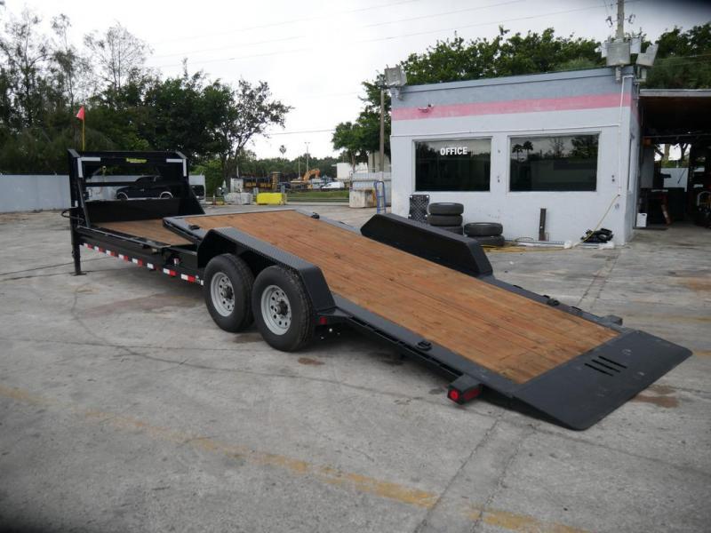 *105452* 7x26 7 TON Hydraulic Gooseneck Tilt Deck Trailer 16' Tilt + 10' Stationary 7 x 26 | TG83-16+10T7T-GT