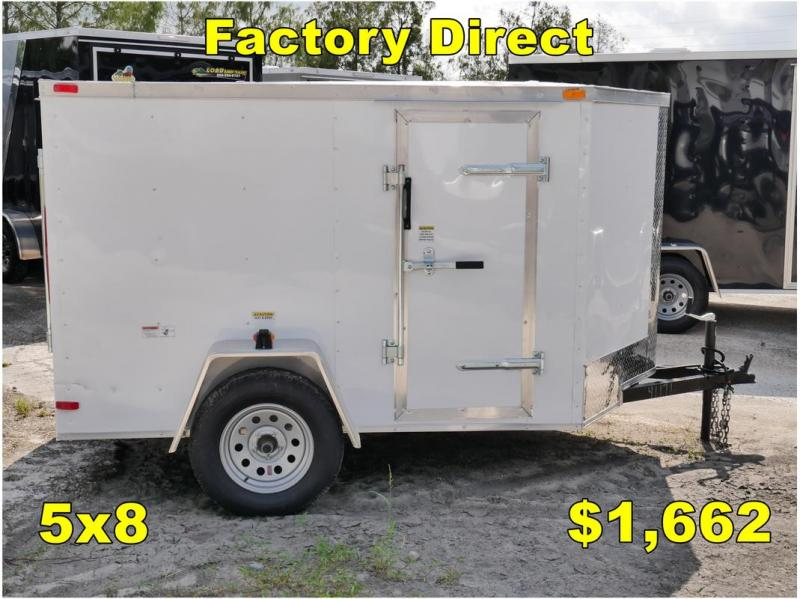 *FD04 TPA* 5x8 FACTORY DIRECT!| Enclosed Cargo Trailer |LRT Trailers 5 x 8