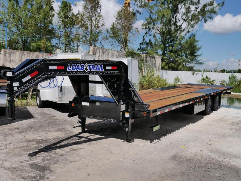 *107682* 8.5x32 Load Trail Gooseneck Flatbed Trailer W/Hydraulic Dove Tail 8.5 x 32