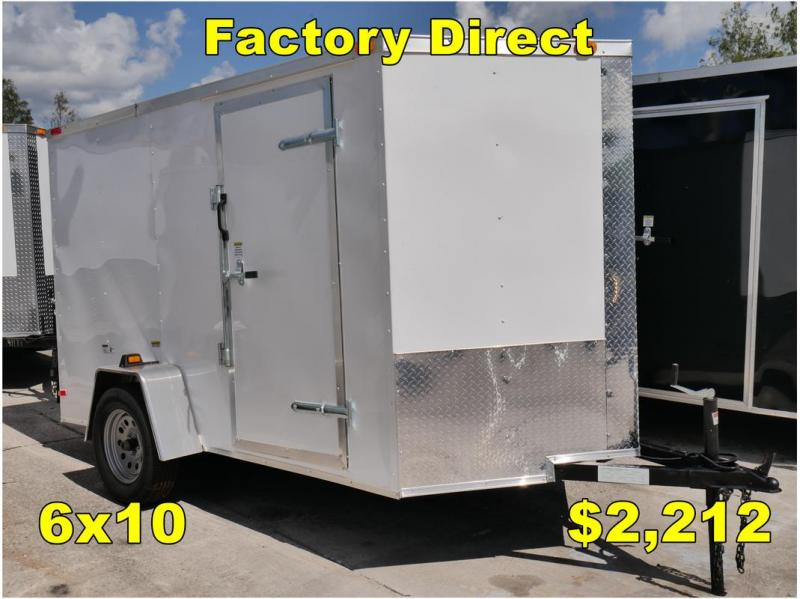 *FD06 TPA* 6x10 FACTORY DIRECT!| Enclosed Cargo Trailer |Trailers 6 x 10