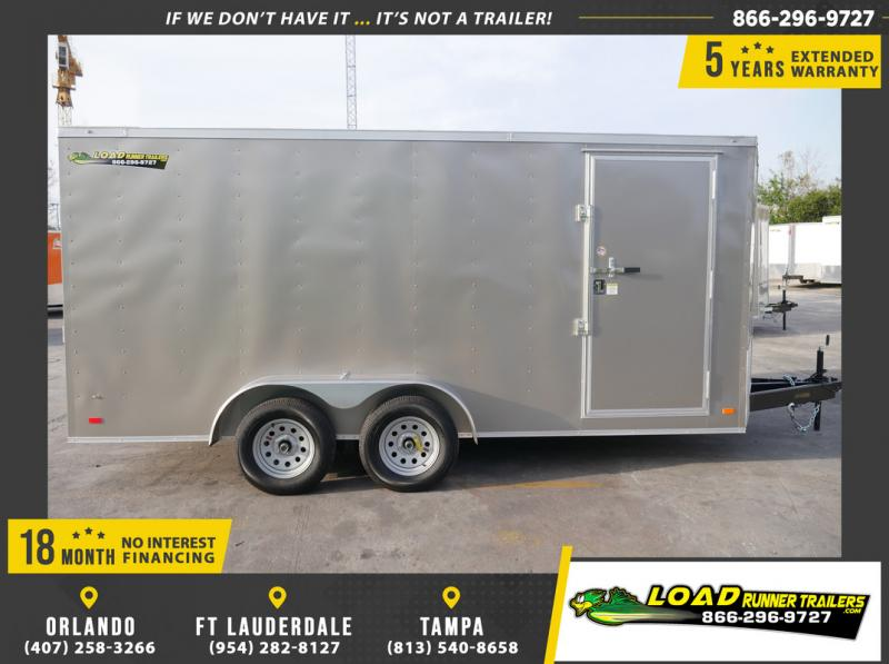 *108842* 7x16 Enclosed Cargo Trailer |LRT Tandem Axle Trailers 7 x 16