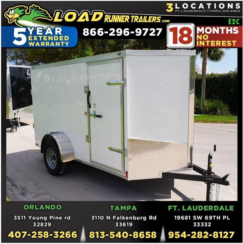 *E2C* 5x10 Cargo Enclosed Trailer LR Catering Cargo 5 x 10   EV5-10S3-R