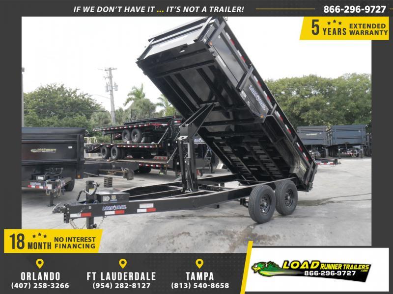 *108552* 7x16 Dump Trailer |LRT Tandem Axle Trailers 7 x 16