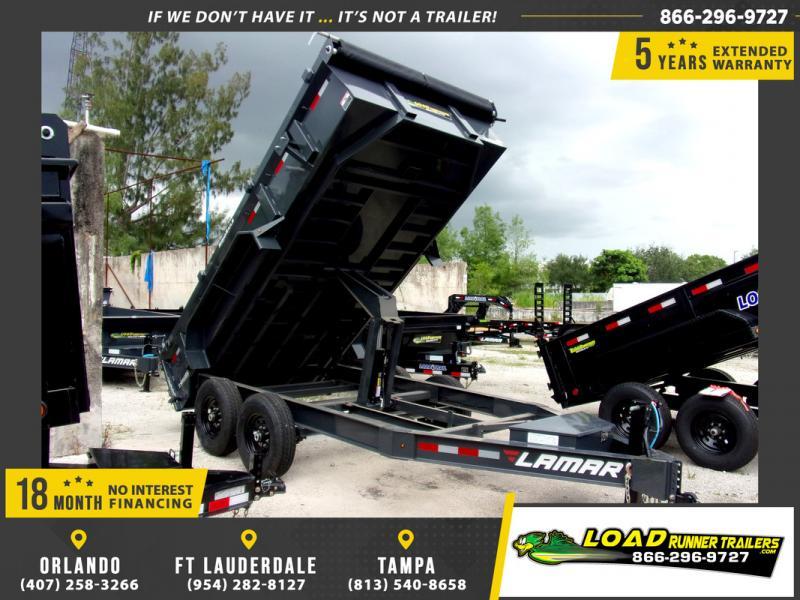 *109300* 7x14 Dump Trailer |LRT Tandem Axle Trailers 7 x 14